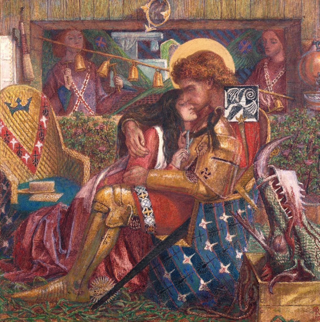 The Wedding of St George and Princess Sabra 1857 Dante Gabriel Rossetti 1828-1882 Purchased with assistance from Sir Arthur Du Cros Bt and Sir Otto Beit KCMG through the Art Fund 1916 http://www.tate.org.uk/art/work/N03058